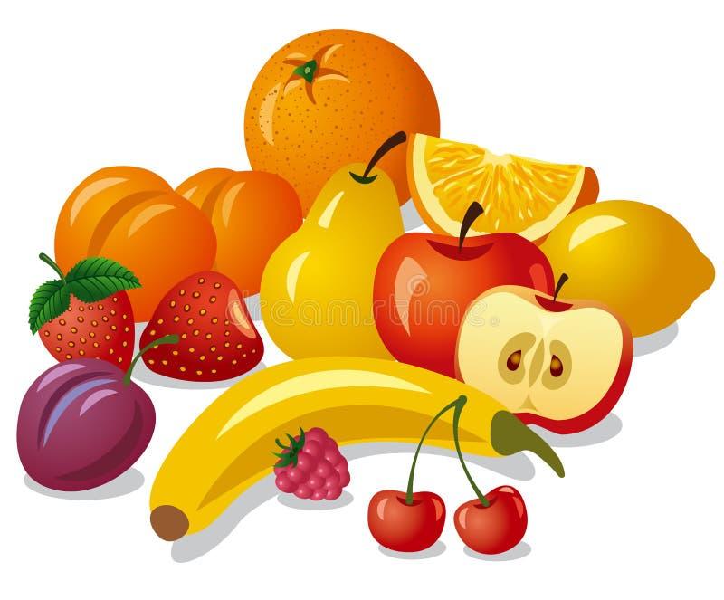 Grupo de frutas stock de ilustración