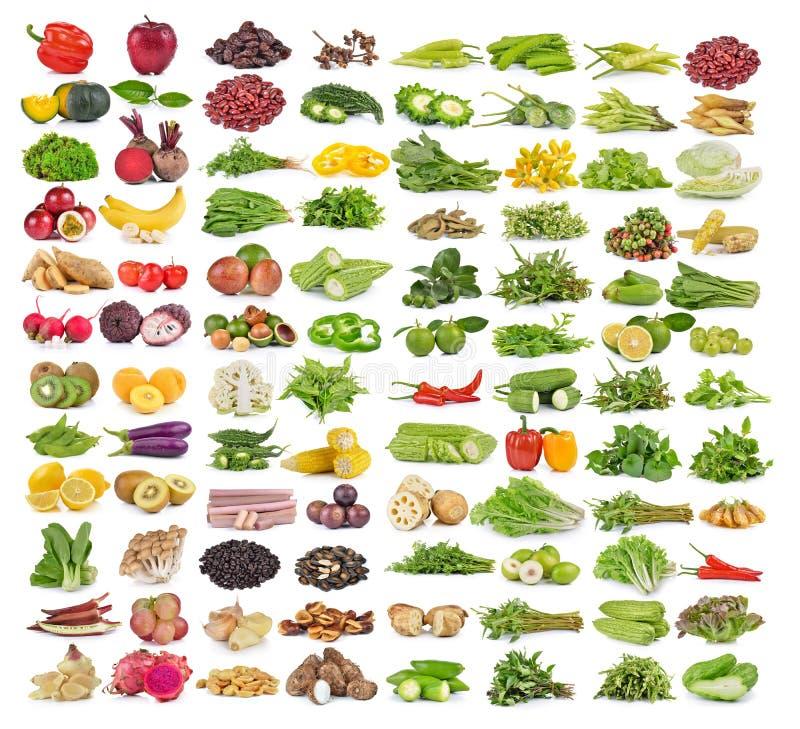 Grupo de frutas e legumes imagem de stock
