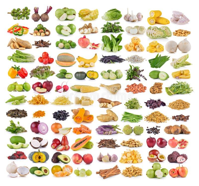 Grupo de frutas e legumes fotos de stock