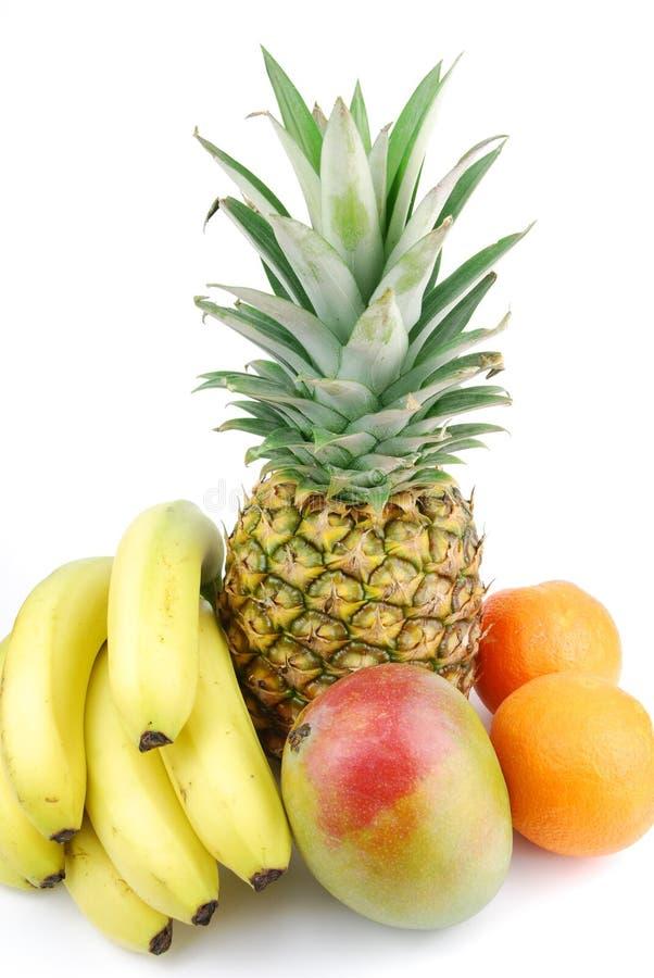 Grupo de frutas frescas en blanco imagen de archivo libre de regalías