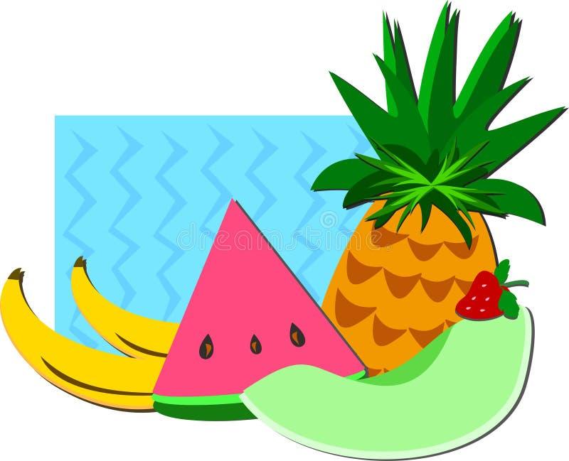 Grupo de frutos doces ilustração do vetor