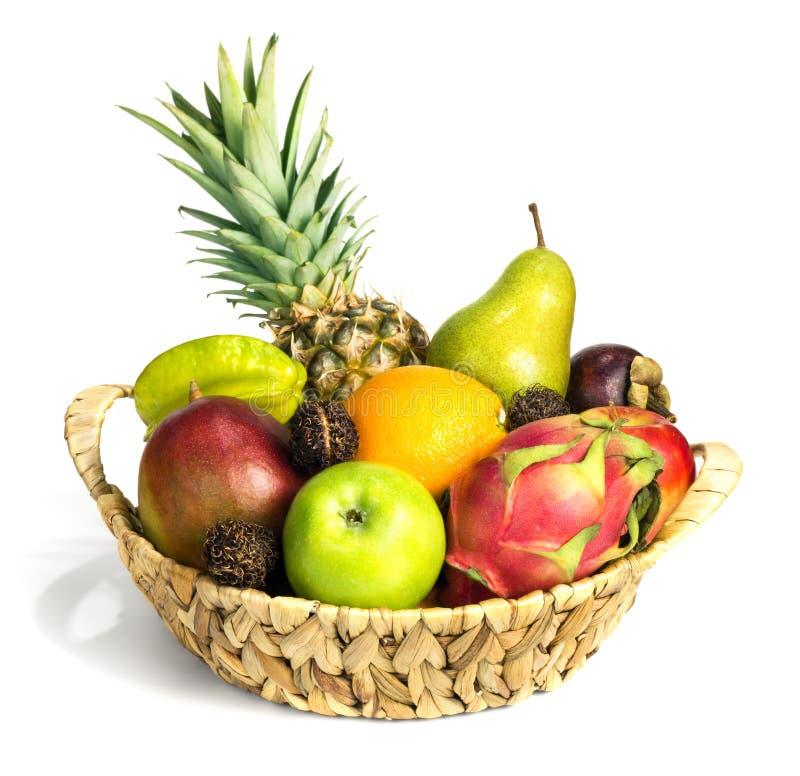 Grupo de frutos exóticos diferentes foto de stock royalty free