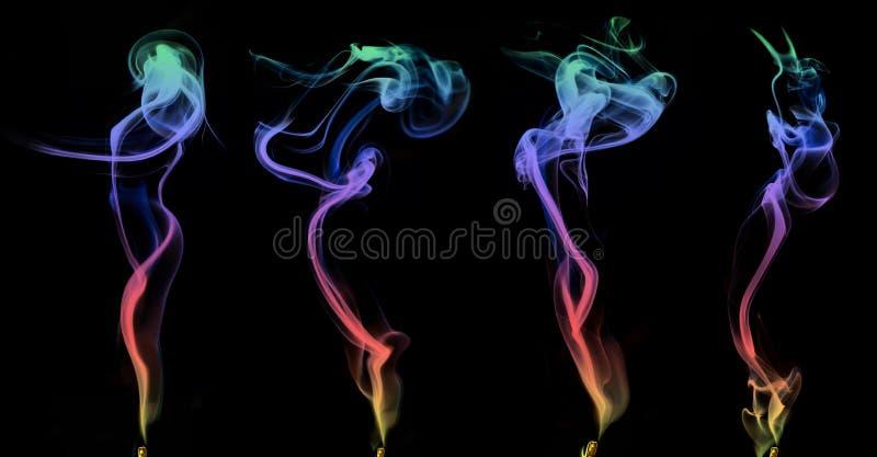 Grupo de fumo colorido foto de stock royalty free