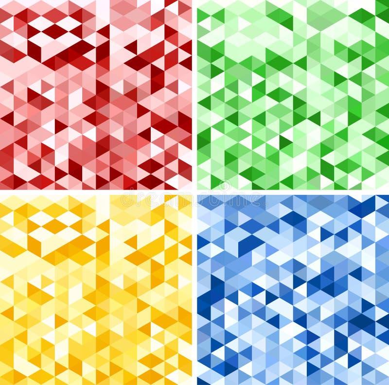 Grupo de fundos abstratos do triângulo ilustração stock