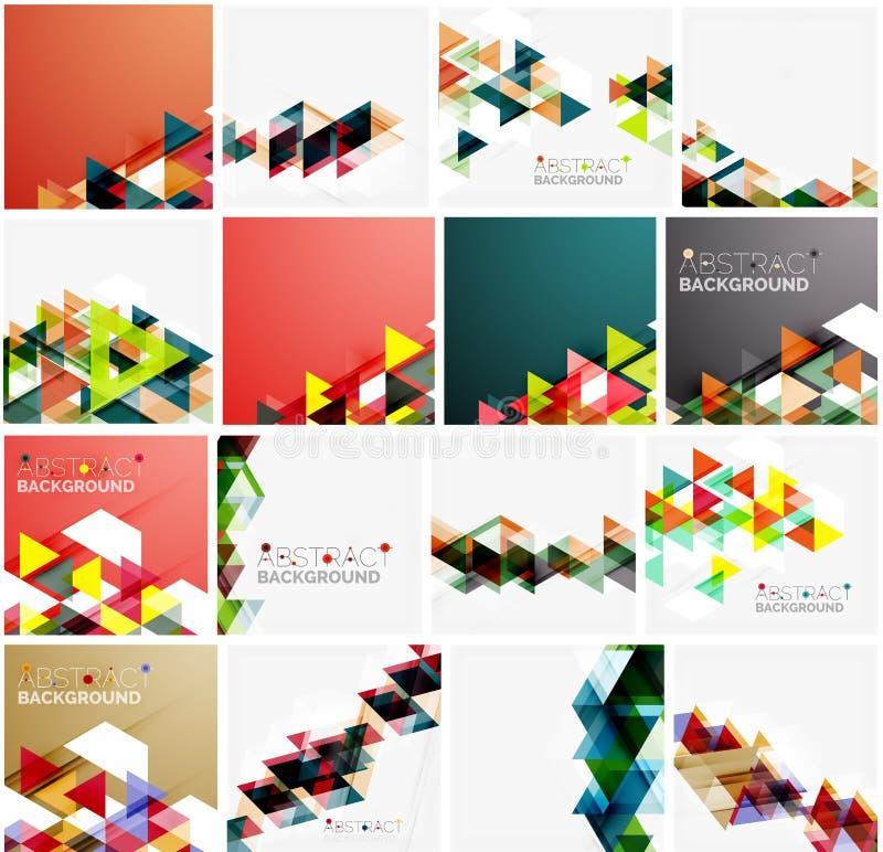 Grupo de fundos abstratos geométricos do triângulo ilustração royalty free