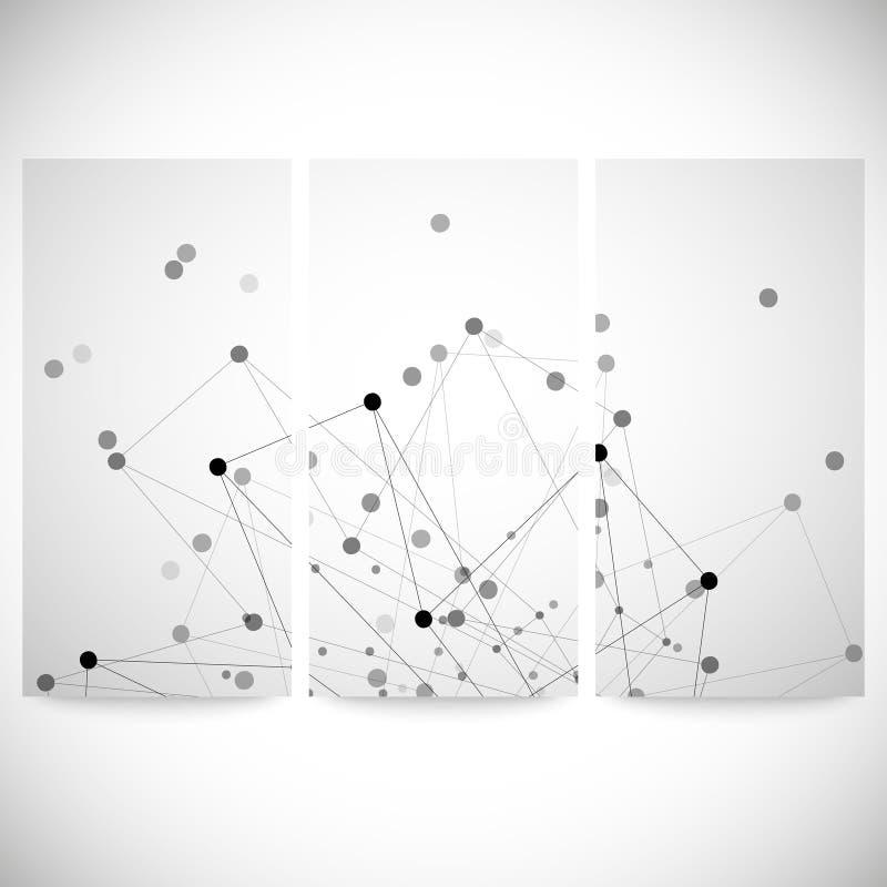 Grupo de fundos cinzentos para uma comunicação, ilustração stock