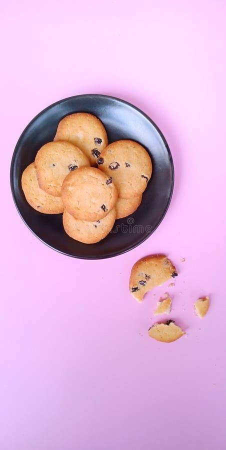 Grupo de galletas de pasa fotos de archivo