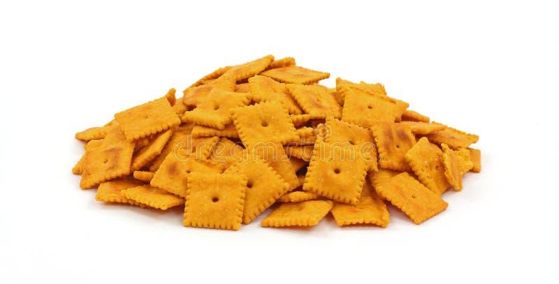 Grupo de galletas sabrosas del queso fotos de archivo libres de regalías