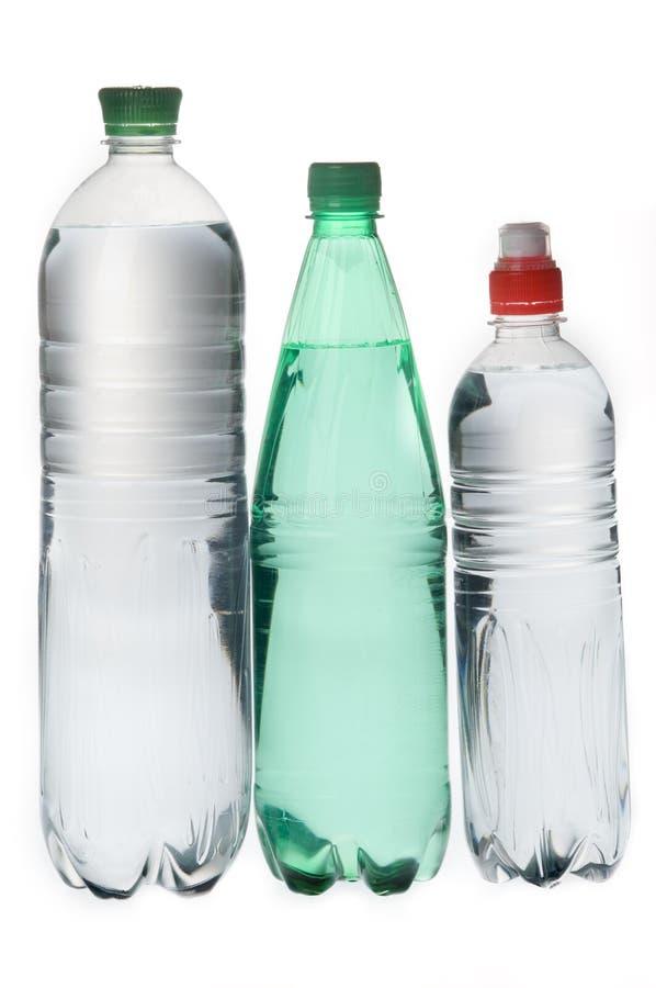 Grupo de garrafas de água minerais da soda foto de stock royalty free