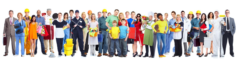 Grupo de gente de los trabajadores imagen de archivo libre de regalías