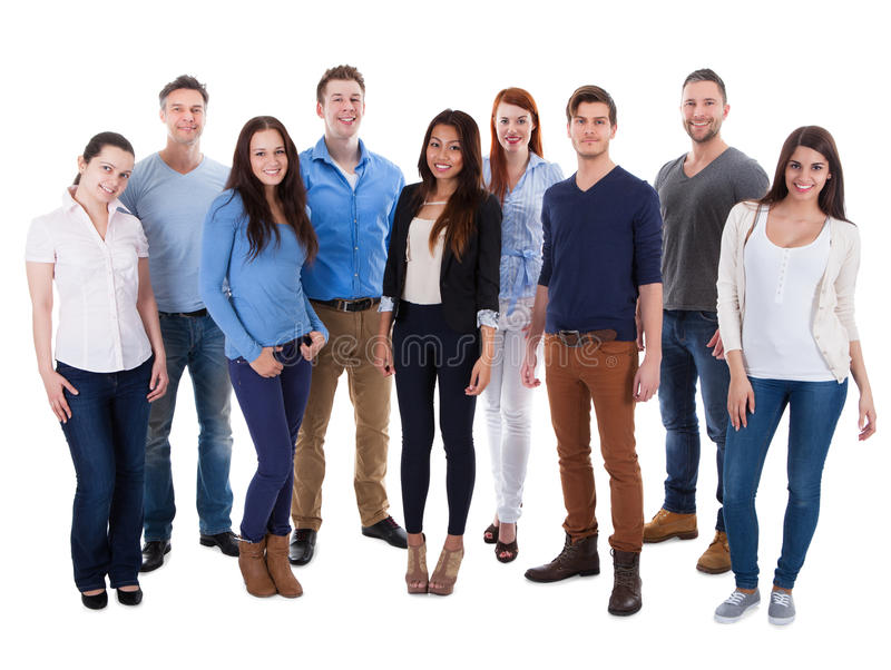 Grupo de gente diversa imagen de archivo