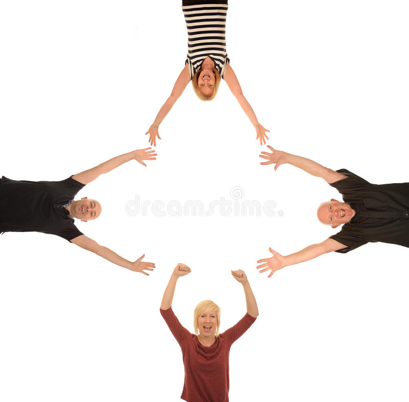 Grupo de gente feliz fotografía de archivo libre de regalías