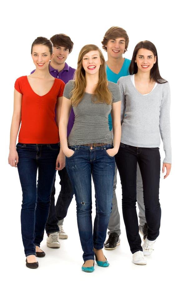 Grupo de gente joven foto de archivo