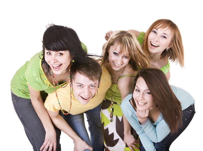 Grupo de gente joven feliz. imagenes de archivo