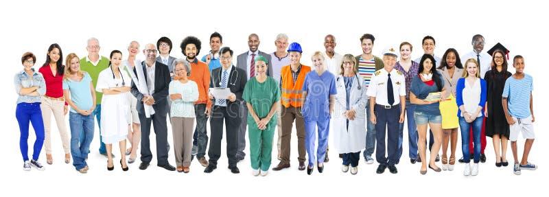 Grupo de gente mezclada diversa multiétnica del empleo fotografía de archivo libre de regalías