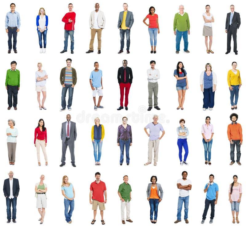 Grupo de gente mezclada diversa multiétnica del empleo foto de archivo libre de regalías