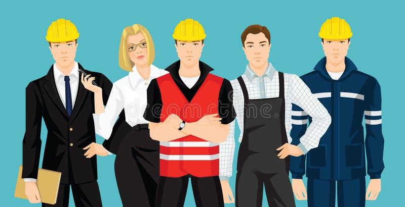 Grupo de gente profesional stock de ilustración
