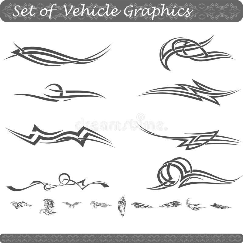 Grupo de gráficos do veículo ilustração do vetor