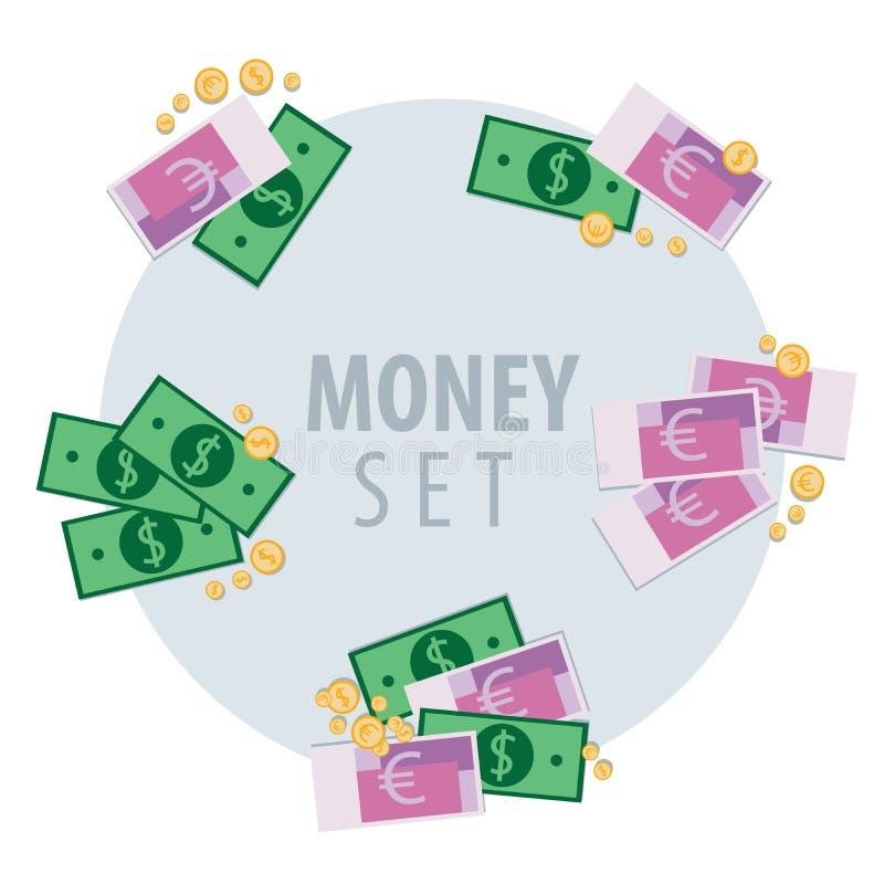 Grupo de grupos do dinheiro ilustração do vetor