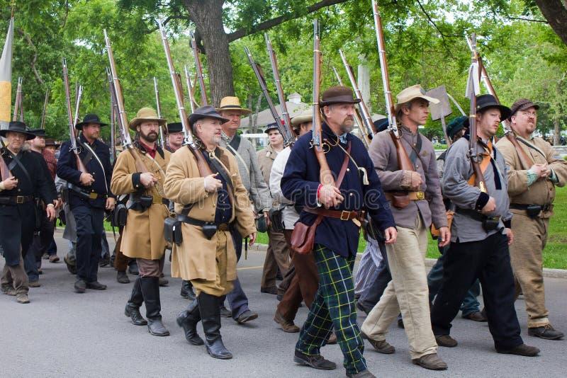 Grupo de guerra civil Reenactors foto de stock