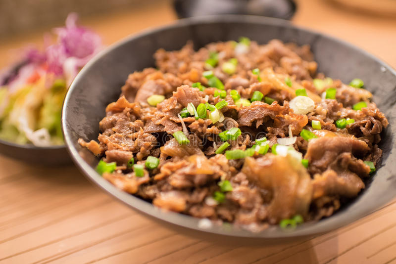 Grupo de gyudon: alimento japonês fotos de stock