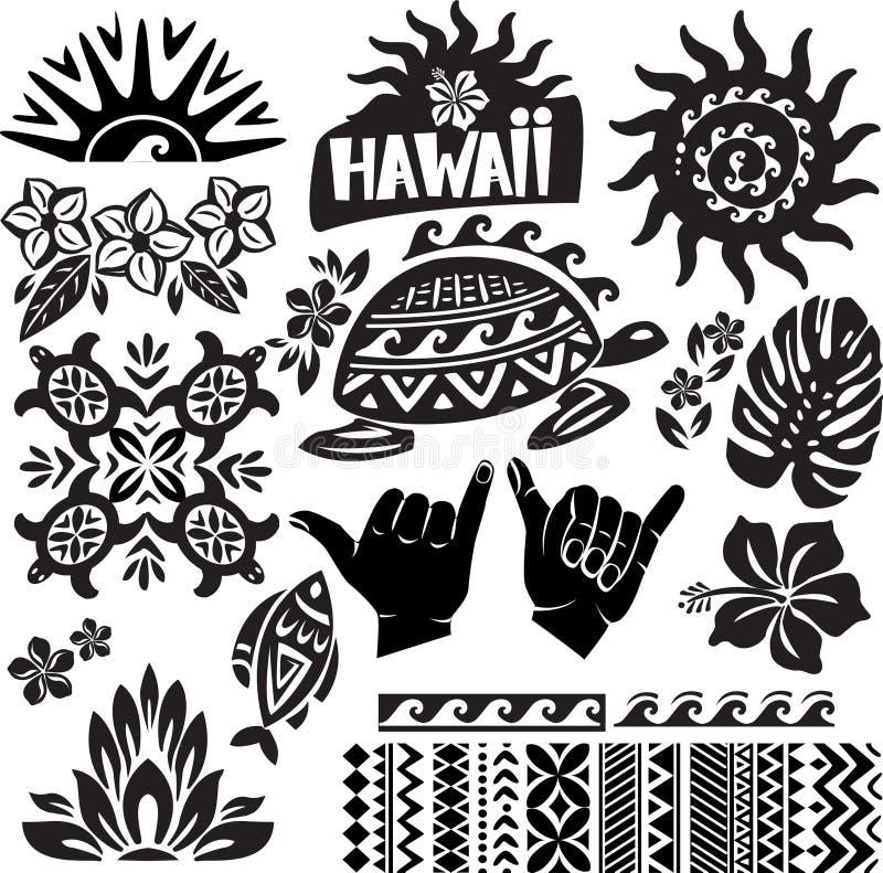 Grupo de Havaí ilustração stock
