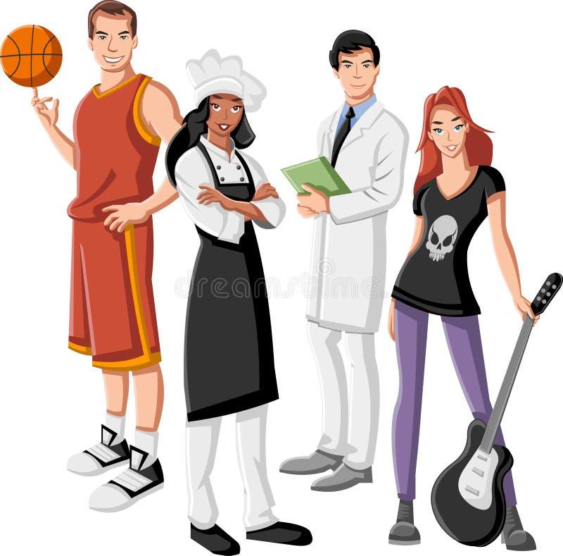 Grupo de hombres de negocios libre illustration