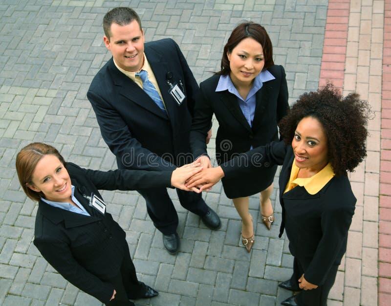 Grupo de hombres de negocios acertados foto de archivo libre de regalías