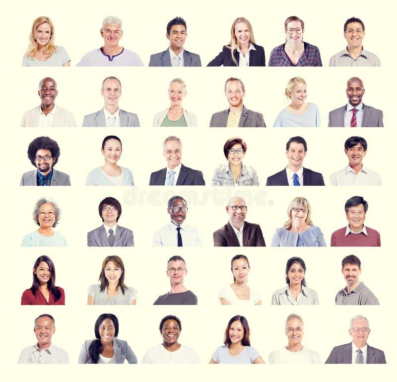 Grupo de hombres de negocios diversos multiétnicos del concepto imágenes de archivo libres de regalías