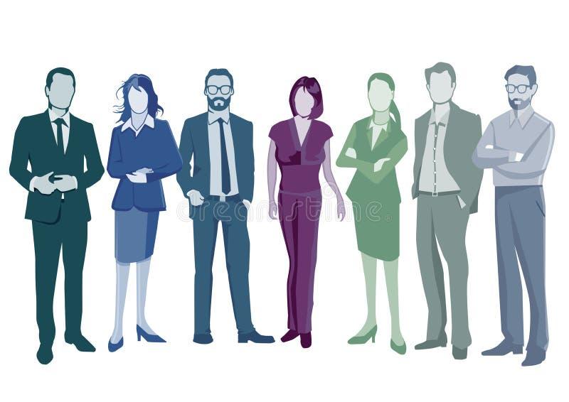 Grupo de hombres de negocios elegantes ilustración del vector