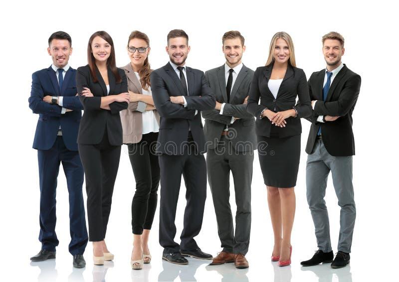 Grupo de hombres de negocios sonrientes Aislado sobre el fondo blanco foto de archivo libre de regalías