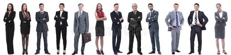 Grupo de hombres de negocios acertados aislados en blanco fotografía de archivo