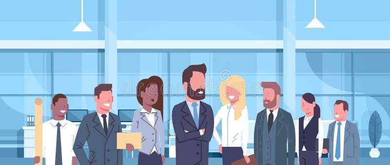 Grupo de hombres de negocios en profesionales modernos de las empresarias de Team Of Successful Businessmen And del concepto de l libre illustration