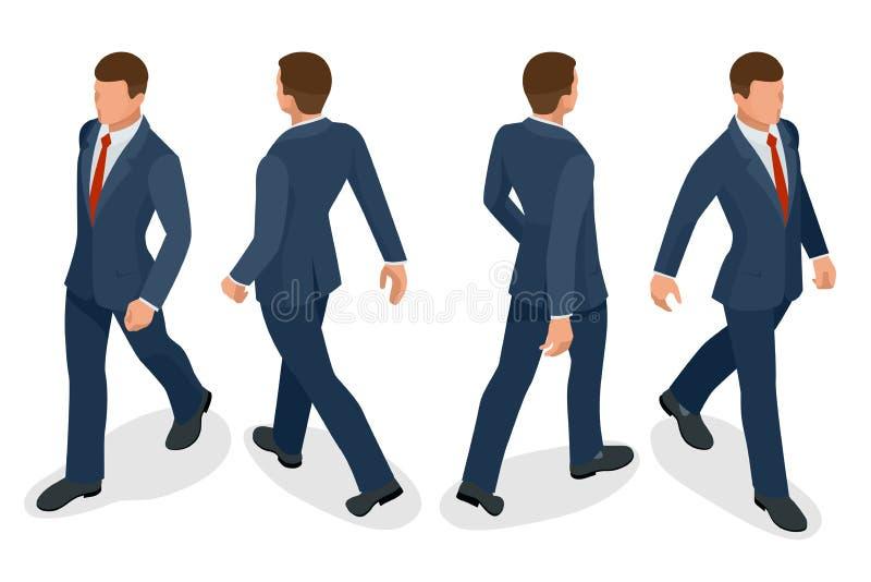 Grupo de homem de negócios Man no fundo branco Poses isométricas do caráter Povos dos desenhos animados Crie seu próprio projeto  ilustração stock