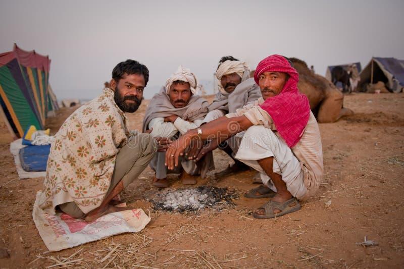 Grupo de homens do rajasthani na manhã fotos de stock royalty free