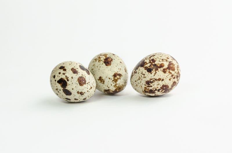 Grupo de huevos de codornices, aislado en el fondo blanco fotos de archivo libres de regalías