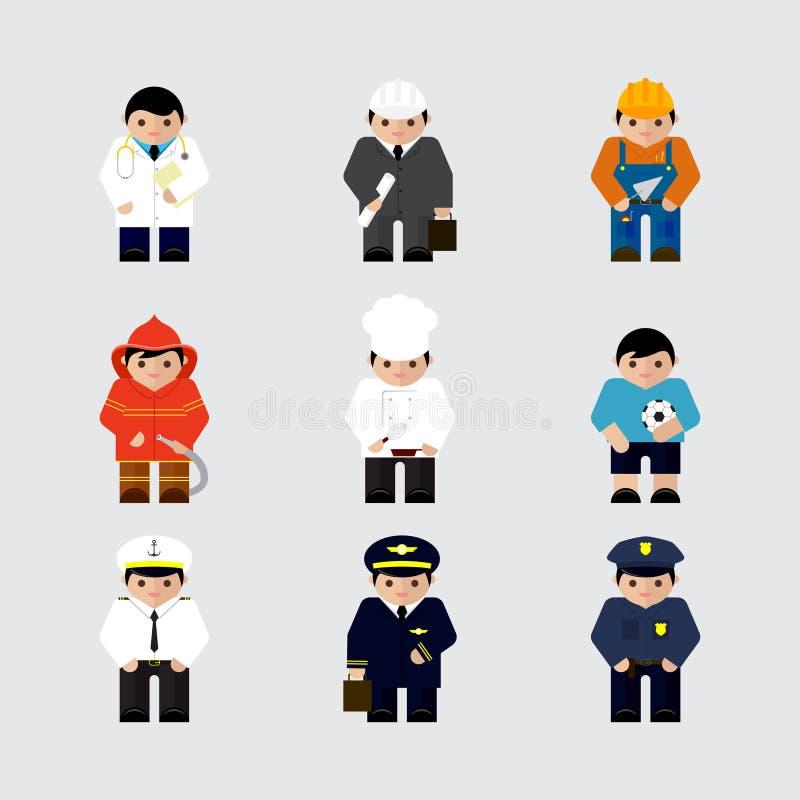 Grupo De Ilustração Do Vetor Dos Caráteres Das Profissões