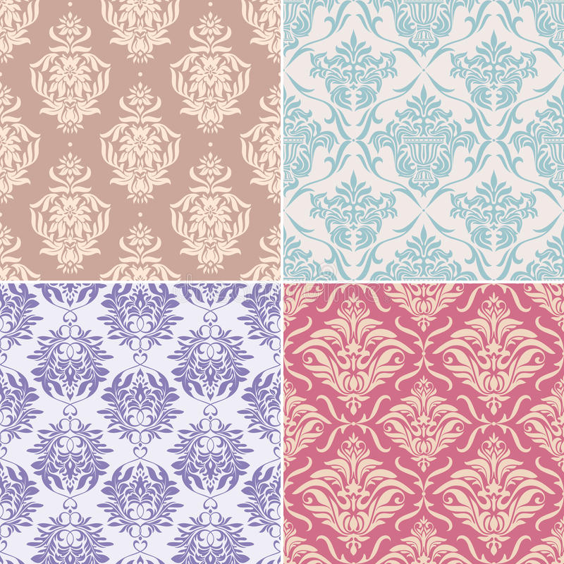 Testes padrões florais sem emenda ilustração stock