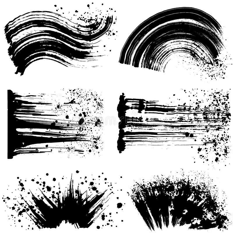 Grupo de ilustrações do curso da escova ilustração royalty free