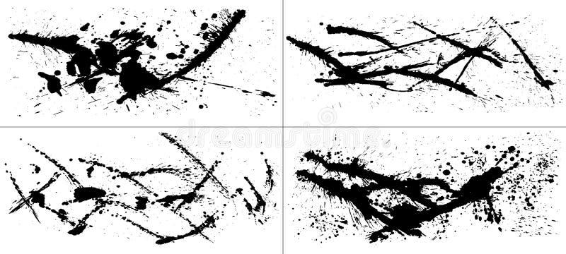 Grupo de ilustrações do curso da escova ilustração do vetor