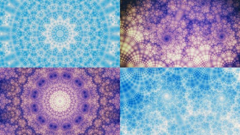 Grupo de imagens abstratas do fractal ilustração stock