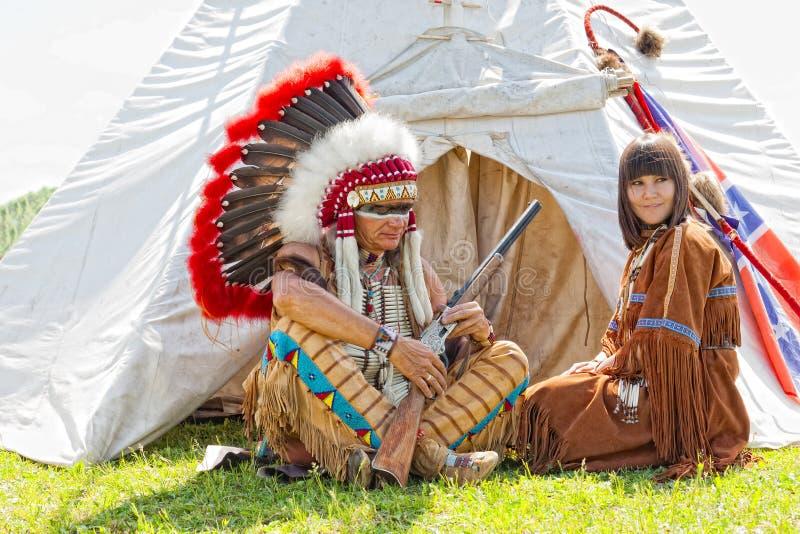 Grupo de indios norteamericanos fotos de archivo