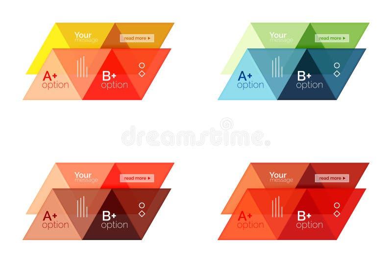 Grupo de infographic geométrico do triângulo do vetor ilustração do vetor