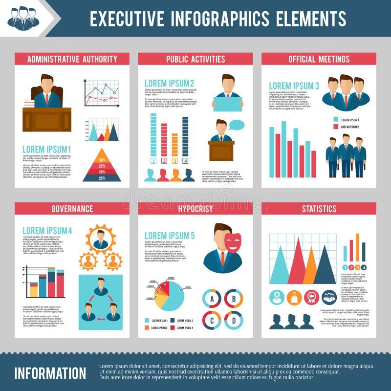 Grupo de Infographics do executivo ilustração royalty free
