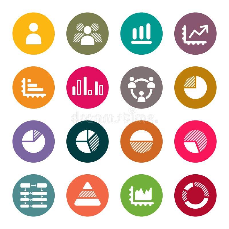Grupo de Infographics Elements.Icon ilustração royalty free