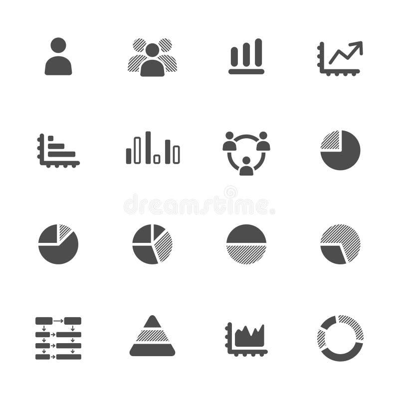 Grupo de Infographics Elements.Icon ilustração stock