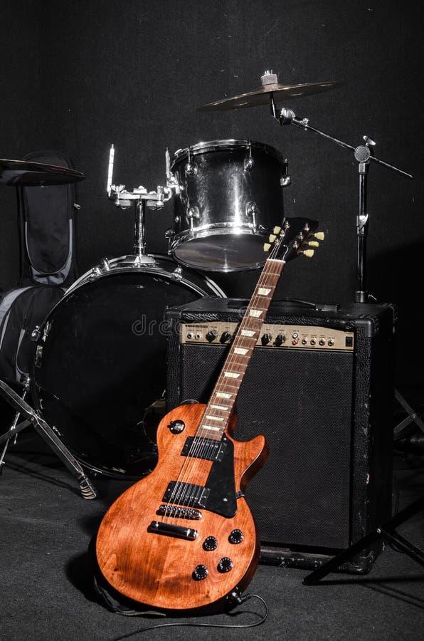 Grupo de instrumentos musicais fotografia de stock