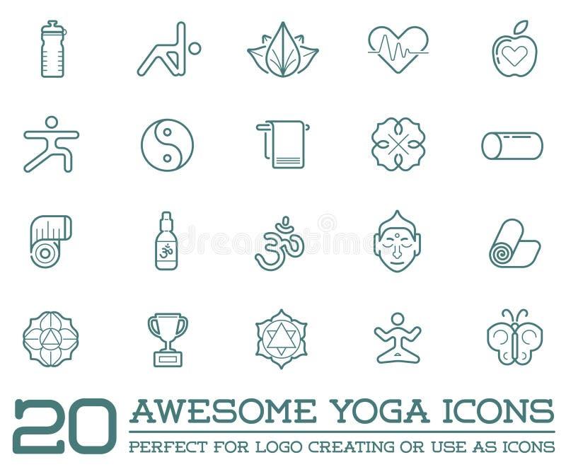 Grupo de ioga Zen Sport Elements do vetor ilustração stock