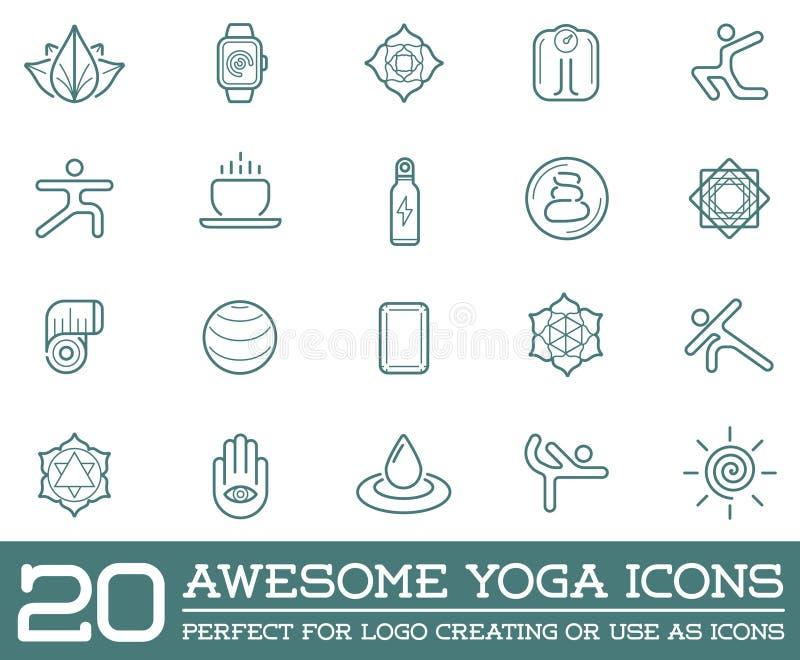 Grupo de ioga Zen Sport Elements do vetor ilustração royalty free