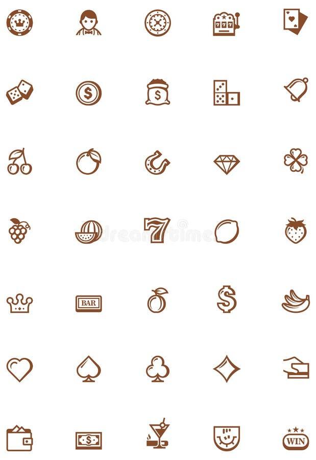 Grupo de jogo do ícone do vetor ilustração stock